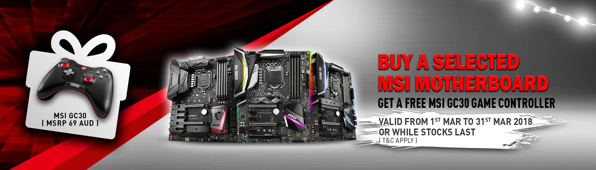 Get A Bonus MSI GC30 Gaming Controller With Selected MSI Gaming Motherboard