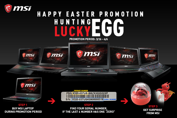 Easter Hunting Egg with MSI Gaming Laptops | MSI Australia