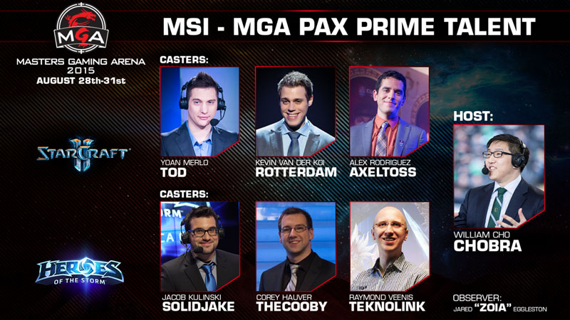 MSI Masters Gaming Arena 2015 staff