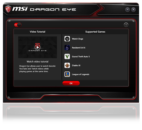 Dragon Eye Is Completely Free And Available On All Msi Gaming All In One Pcs And Gaming Desktops The Application Supports The Most Popular E Sports Games