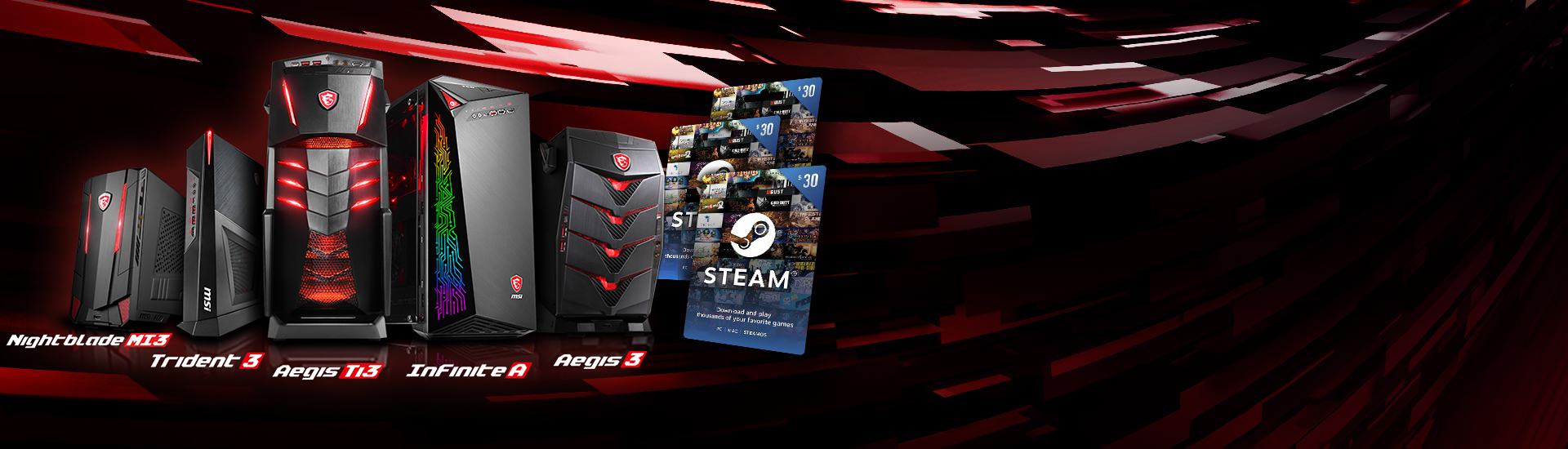 Steam Wallet Code Bundle Gaming Desktop Msi Us 20
