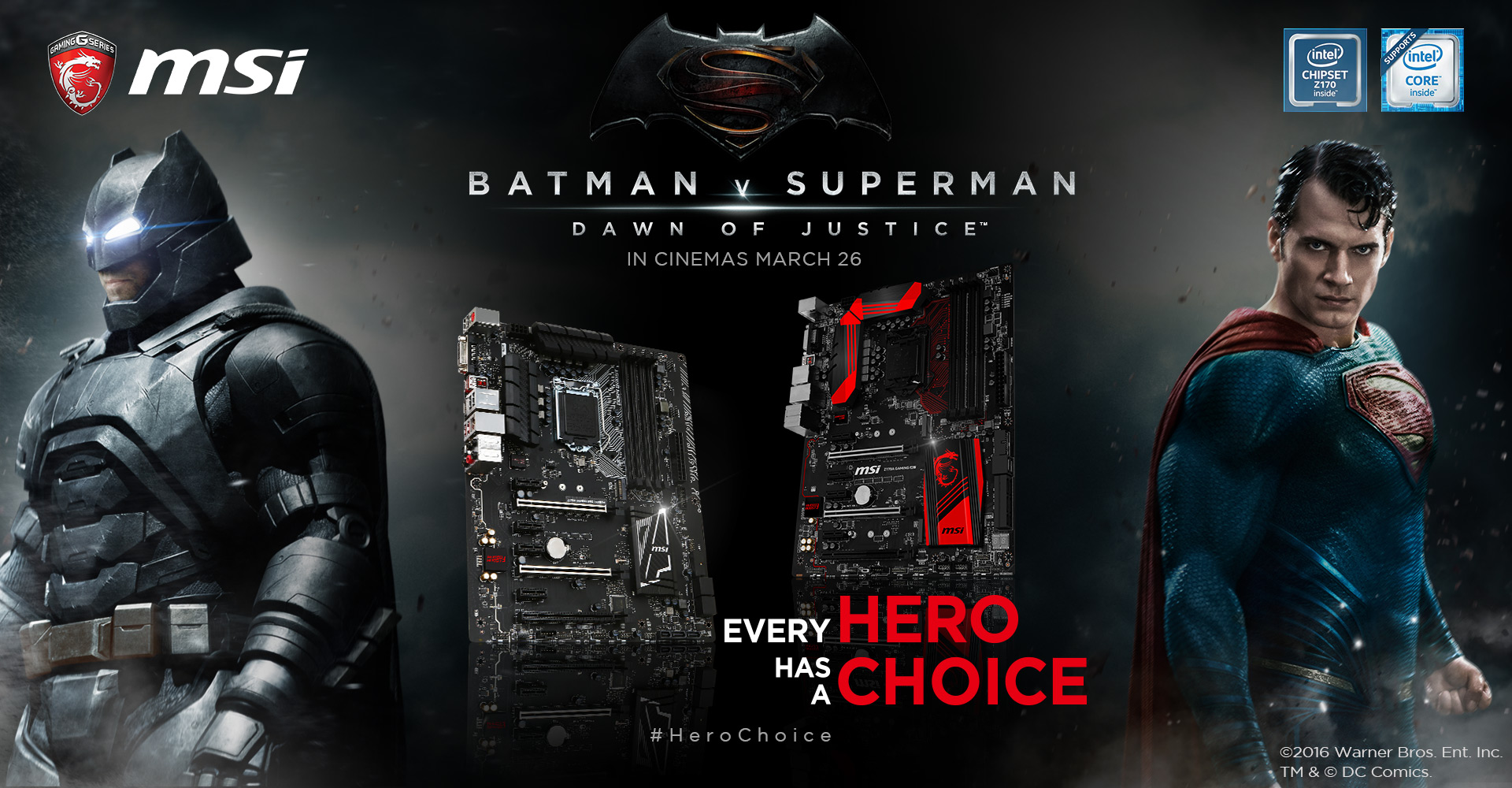 Msi X Batman V Superman Dawn Of Justice Msi Z170 Gaming