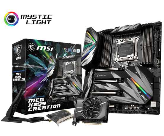 MEG-x299-creation-motherboard-for-video-editing