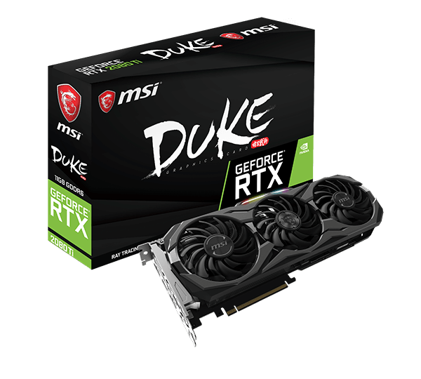 MSI GeForce® RTX 2080 Ti DUKE 11G OC