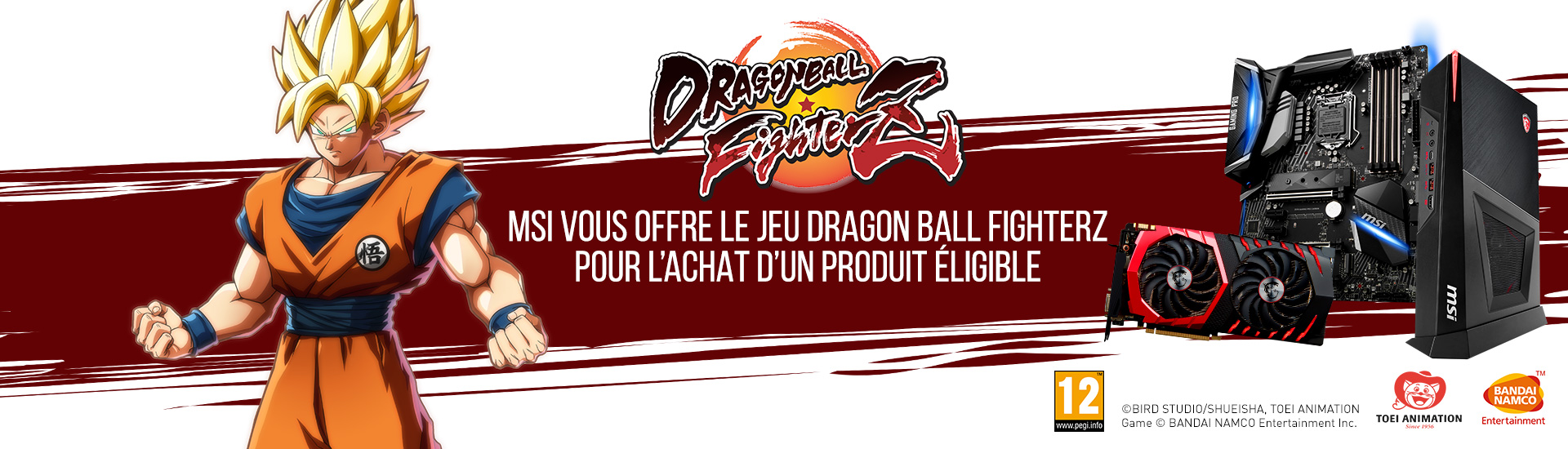 MSI vous offre le jeu Dragon Ball FighterZ