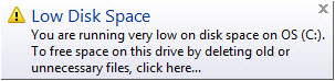 low-disk-space-windows