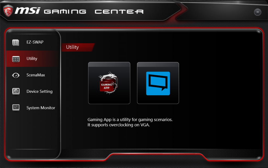 msi gaming control center download