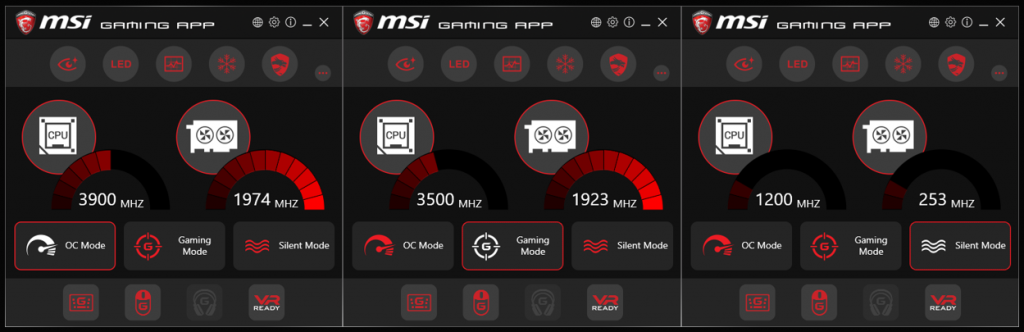 msi gaming app led control
