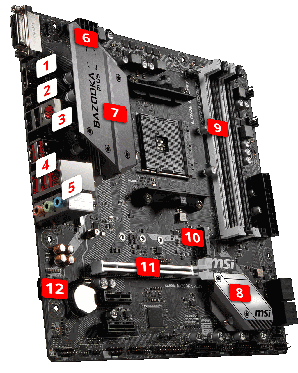 B450M BAZOOKA PLUS | Motherboard - The world leader in motherboard design | MSI Global