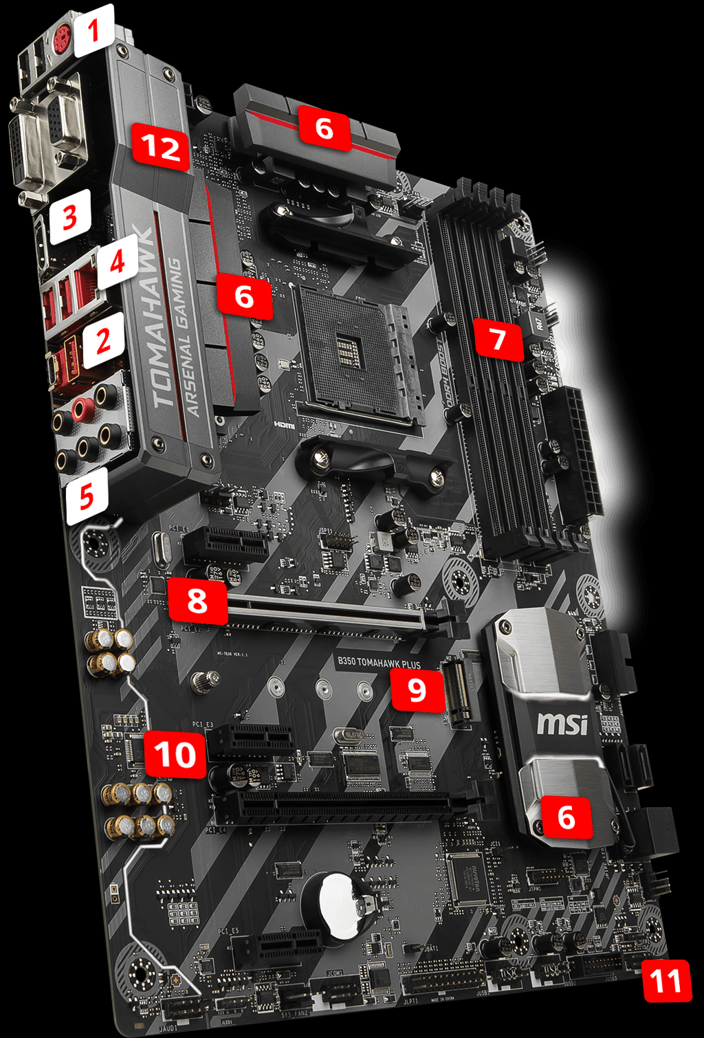 msi b350_tomahawk_plus overview overview for b350 tomahawk plus motherboard the world leader  at eliteediting.co