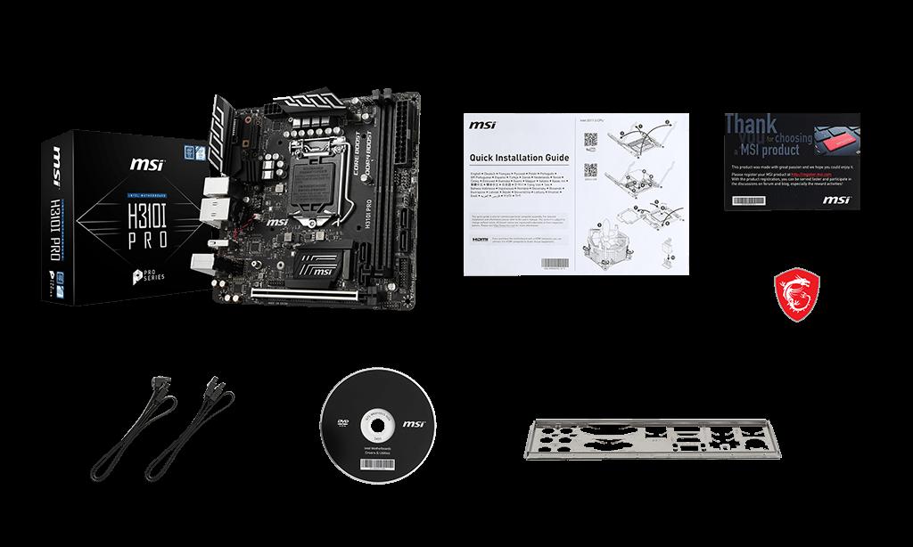 MSI H310I PRO box content