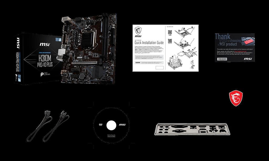 MSI H310M PRO-VD box content