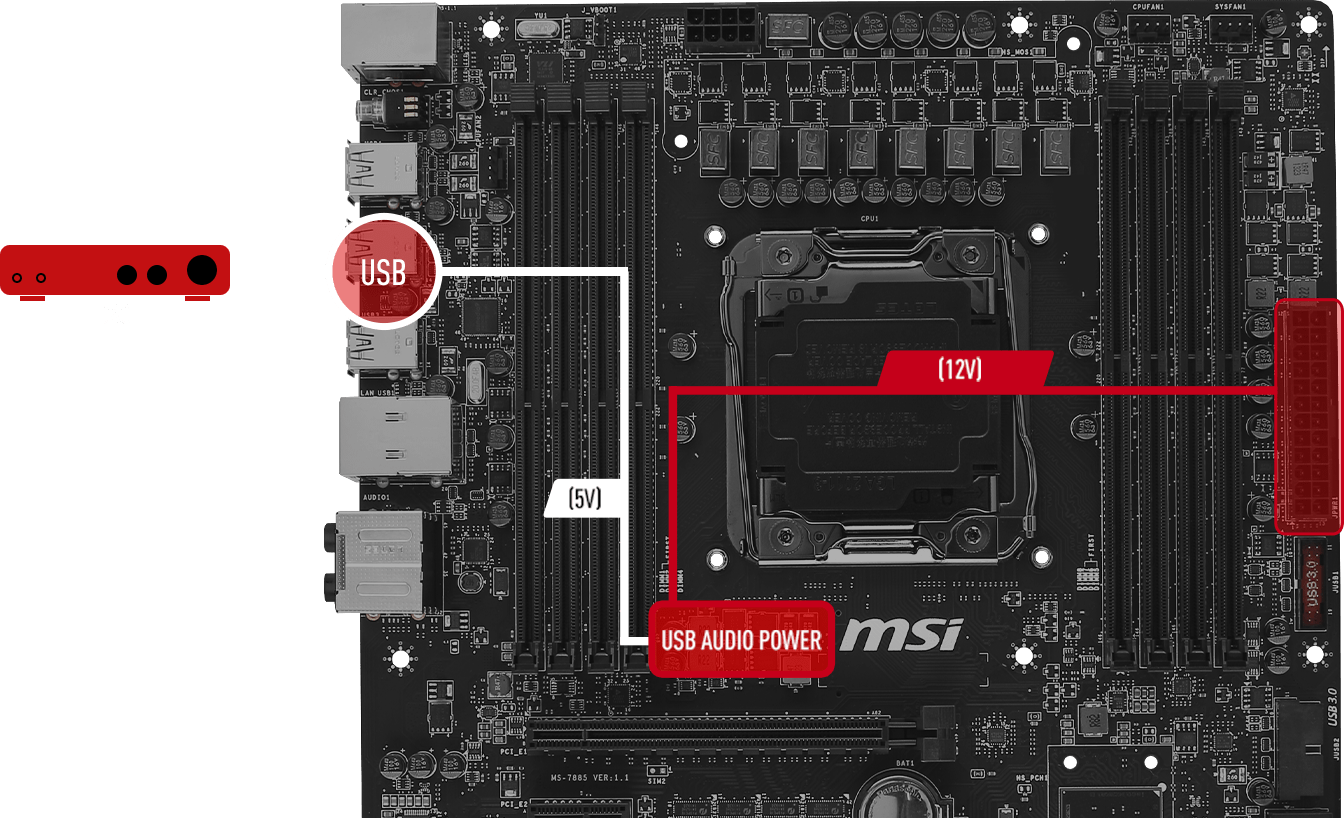 MSI X99A GODLIKE Gaming X99 Chipset DDR4, USB 3.1, LGA2011v3 Socket (MYSTIC LIGHT) E-ATX Form Factor MotherBoard