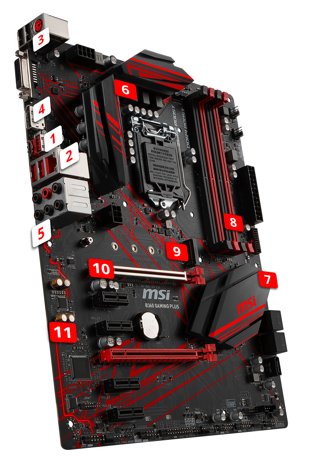 MSI B360 GAMING PLUS overview
