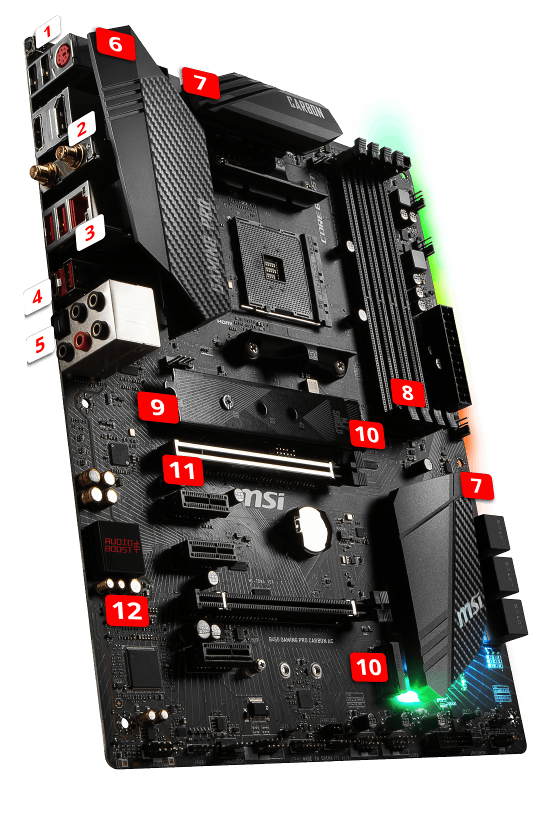 MSI B450 GAMING PRO CARBON AC overview