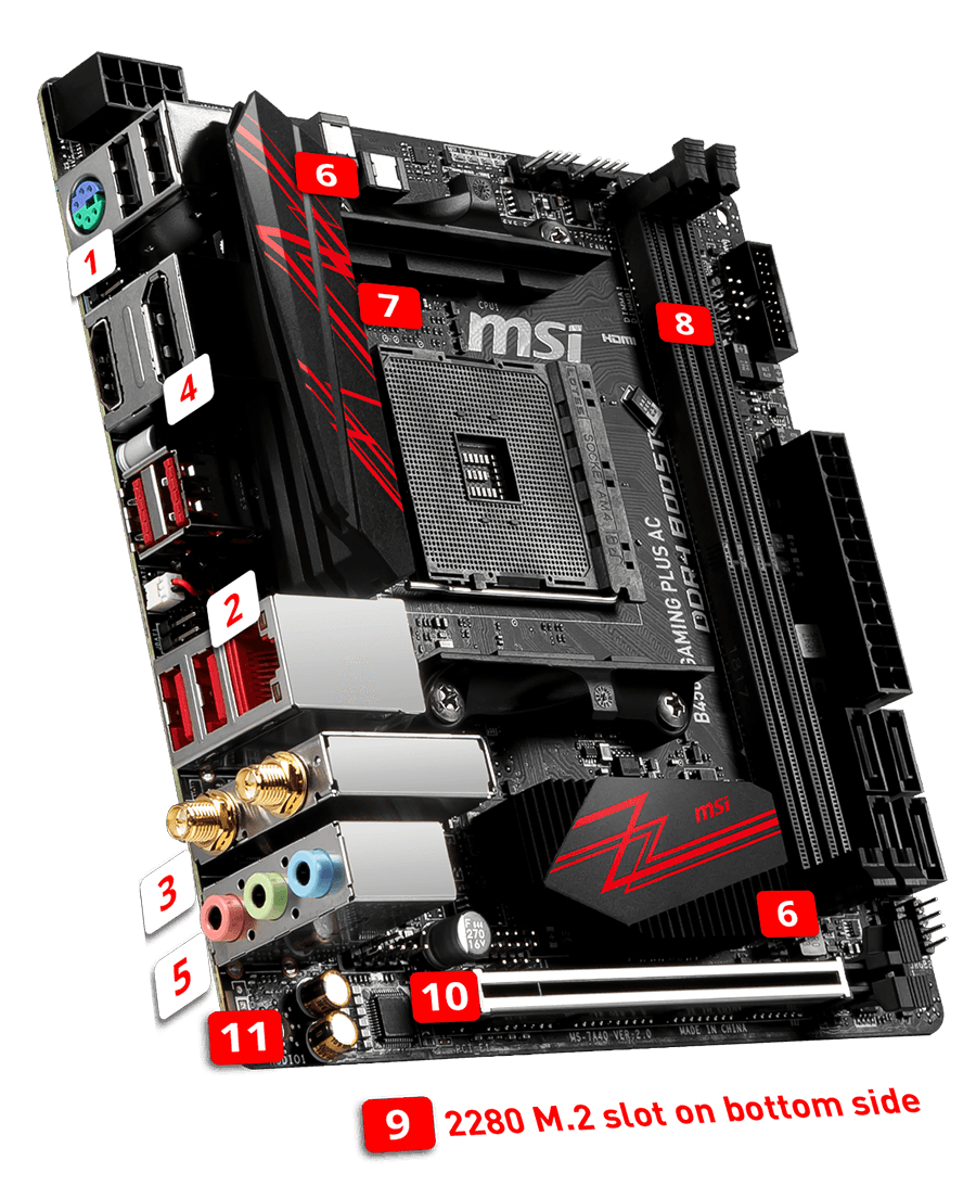 MSI B450i GAMING PLUS AC overview