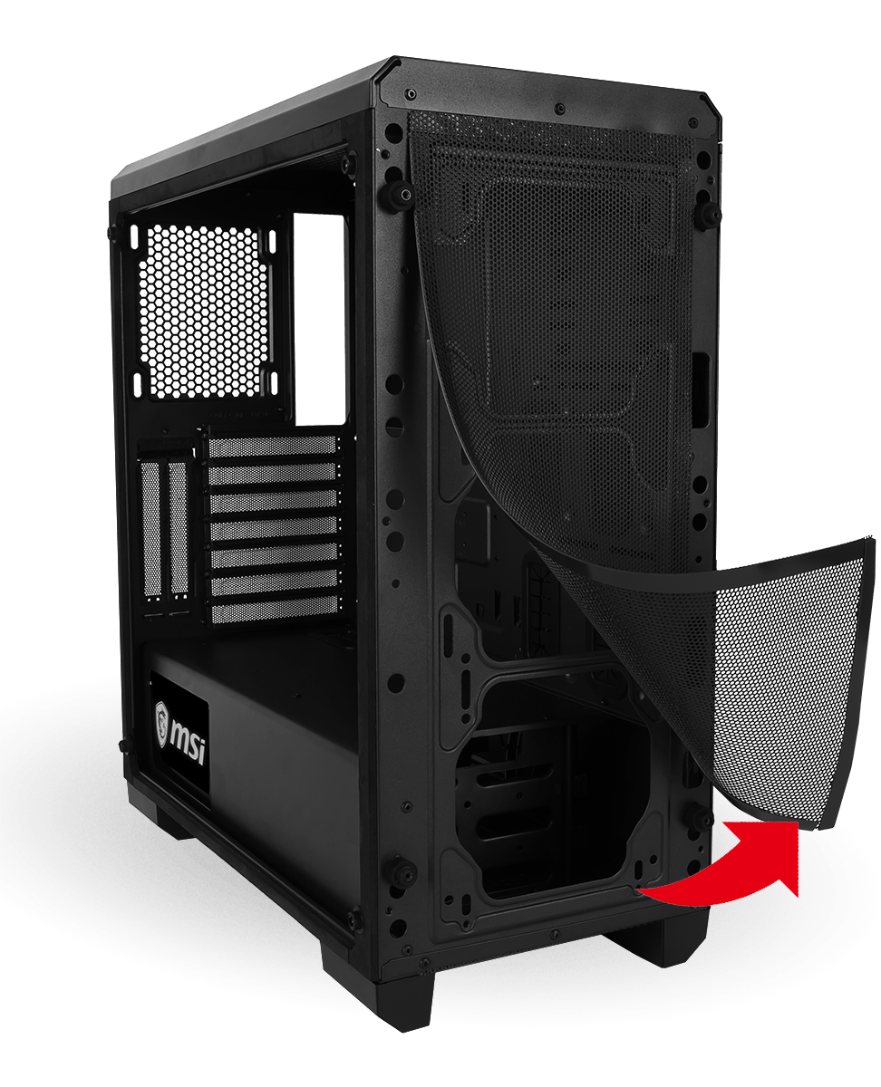MSI MAG BUNKER CASE Dust Filters Front