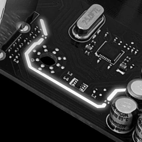 Isolated audio design with Isolated Audio with RGB LED Line