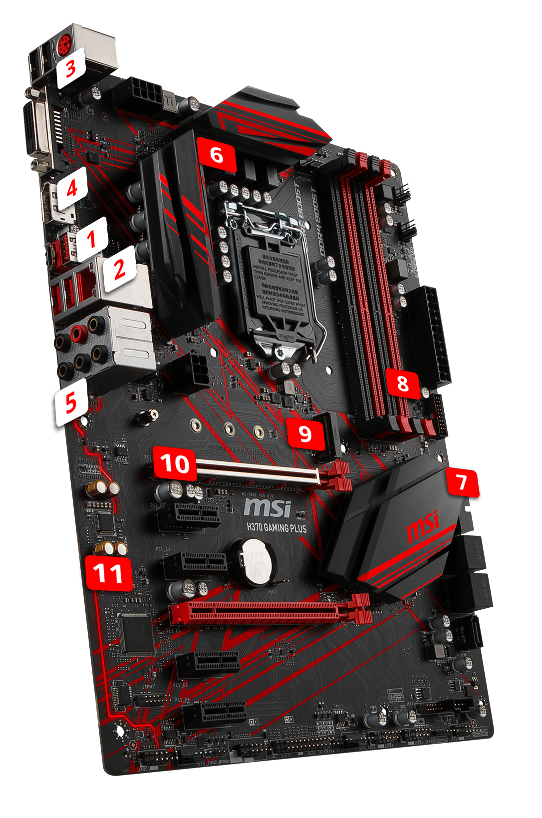 MSI H370 GAMING PLUS overview