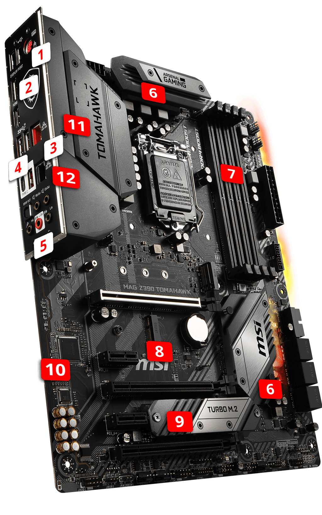 MSI MAG Z390 TOMAHAWK overview