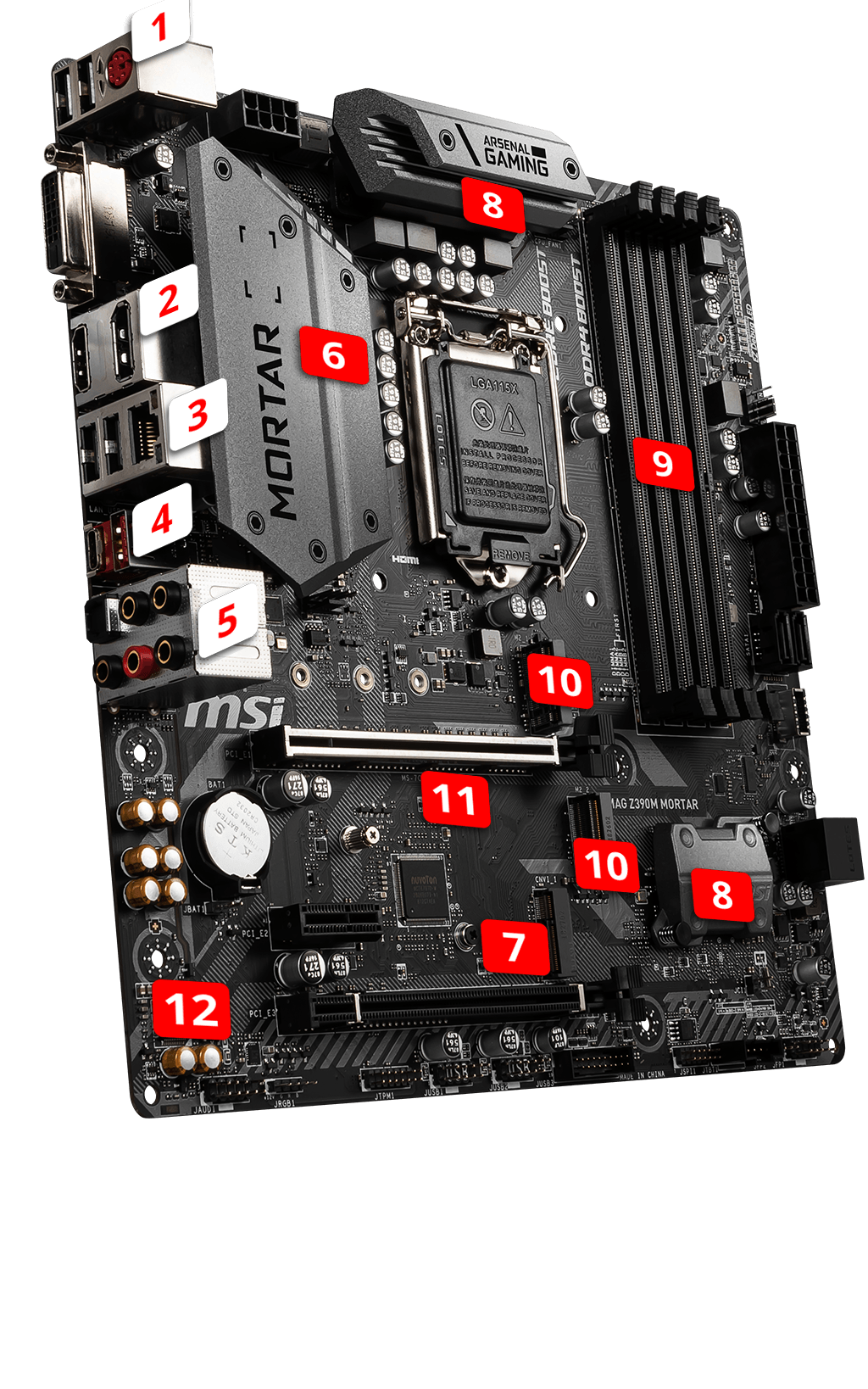 MSI MAG Z390M MORTAR overview