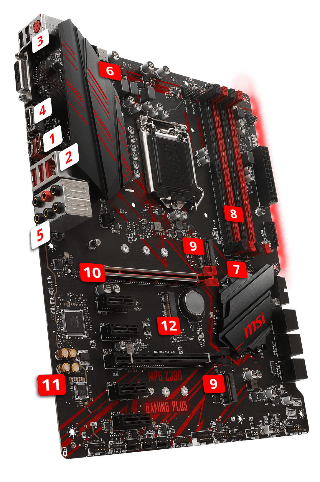 MSI MPG Z390 GAMING PLUS overview