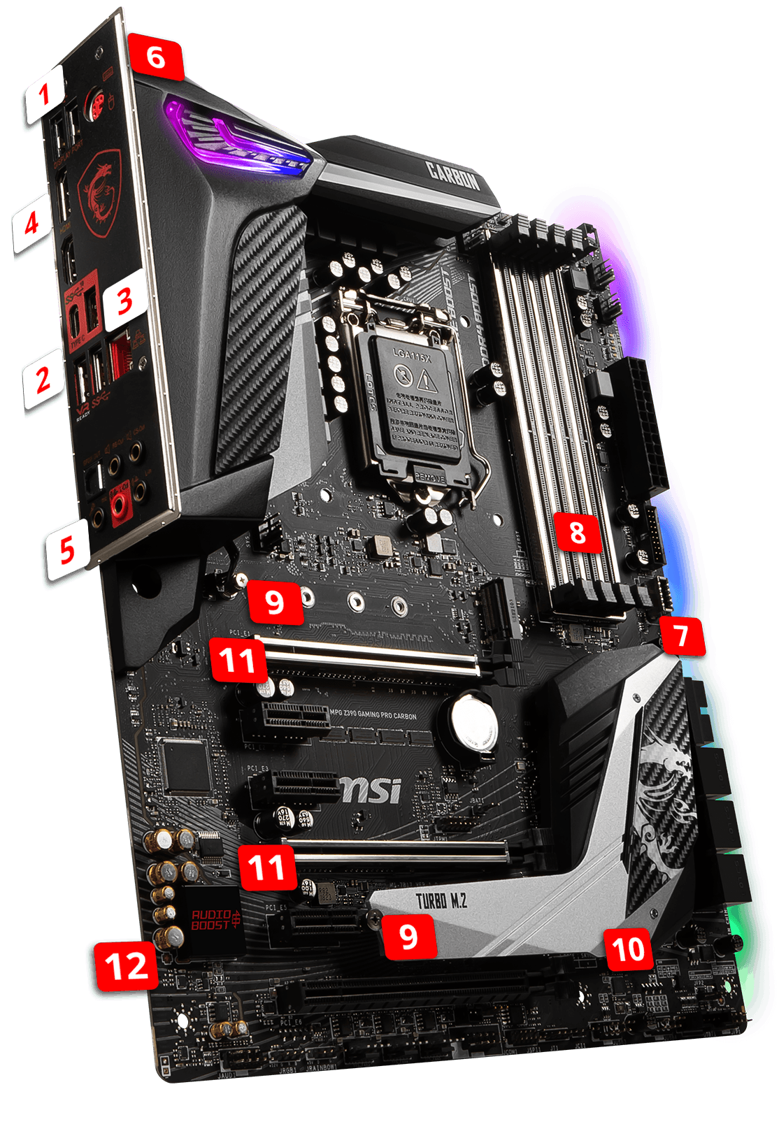 MSI MPG Z390 GAMING PRO CARBON overview
