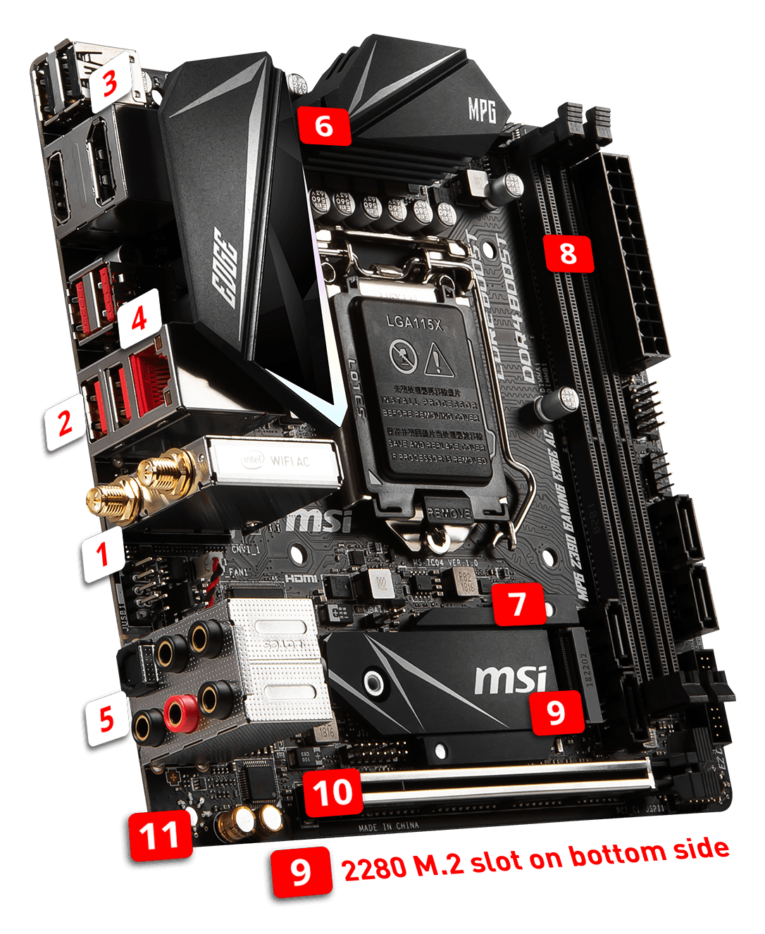 MSI MPG Z390I GAMING EDGE AC overview