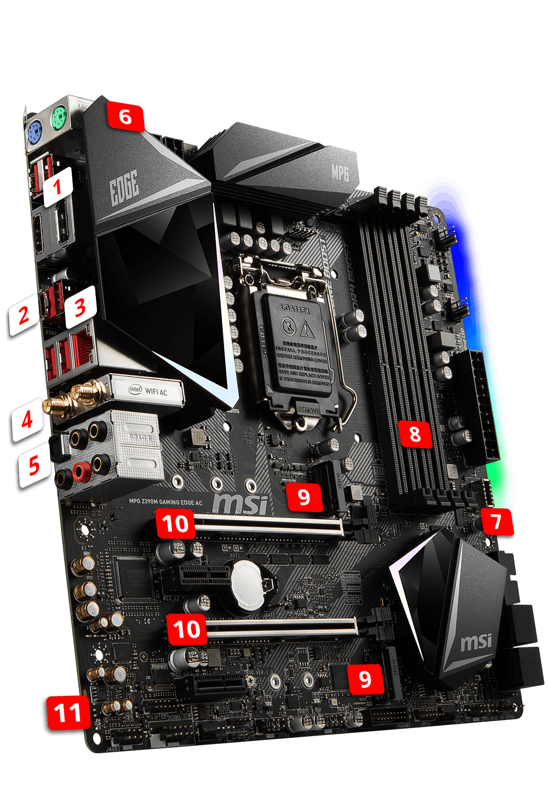 MSI MPG Z390M GAMING EDGE AC overview