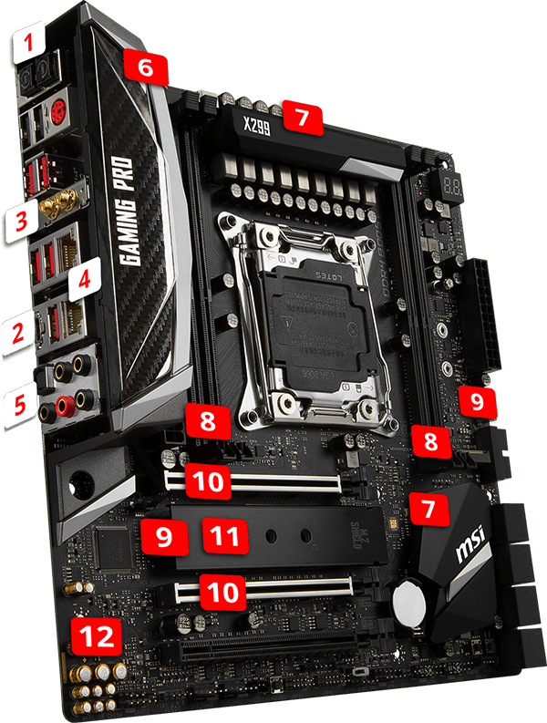 MSI X299m GAMING PRO CARBON AC overview