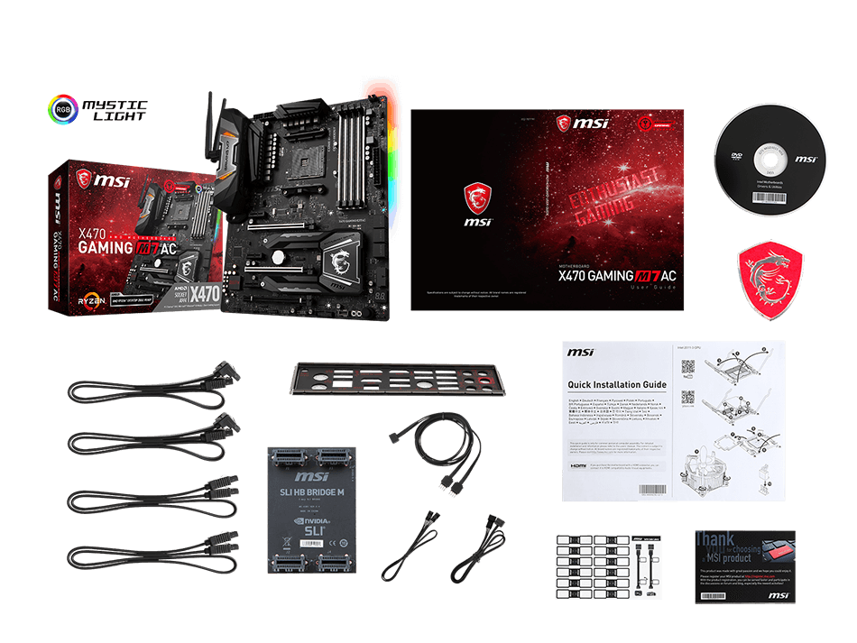 MSI X370 GAMING M7 ACK box content