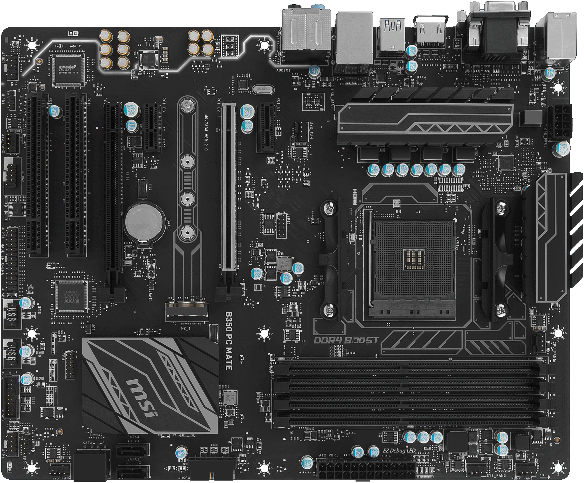 B350 Pc Mate Motherboard The World Leader In Design Pics Photos Computer Diagram With Following Parts Labeled Cpu Tuning