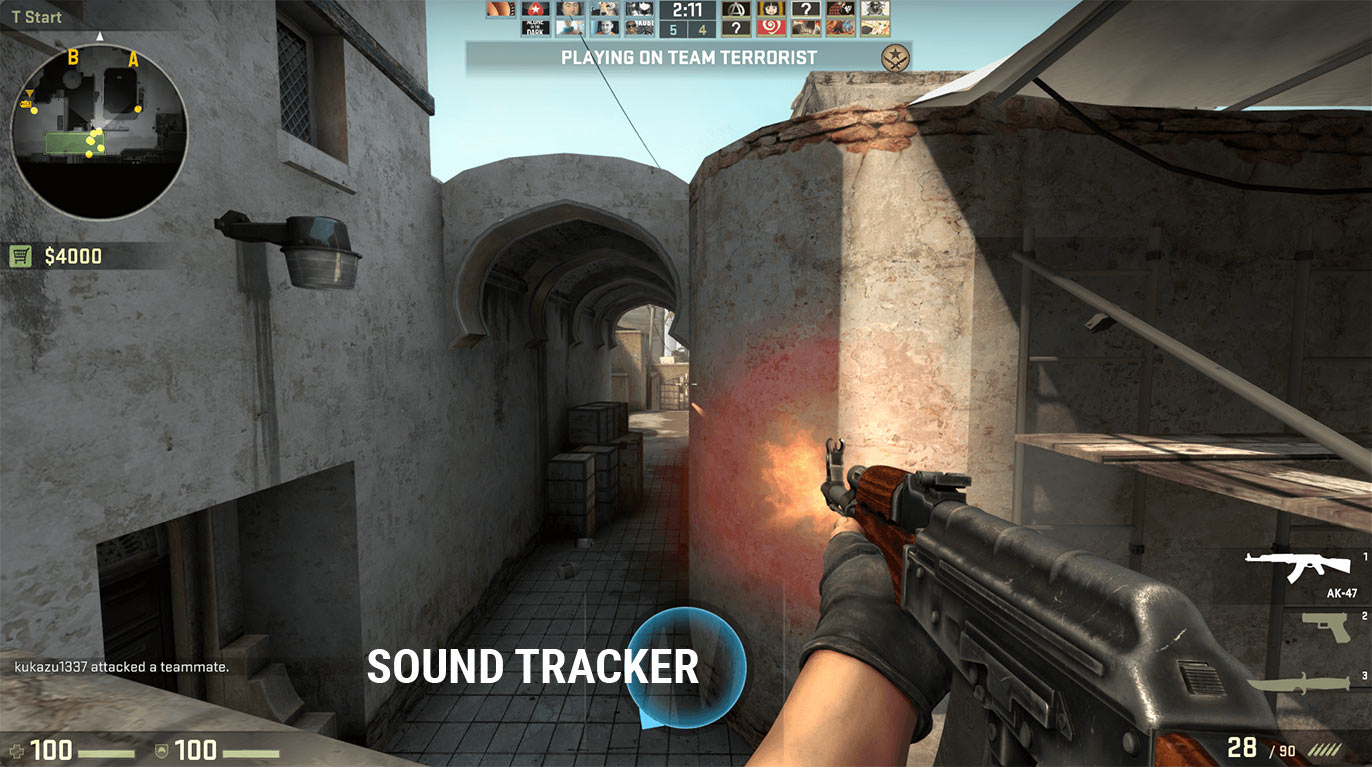 Sound Tracker ingame