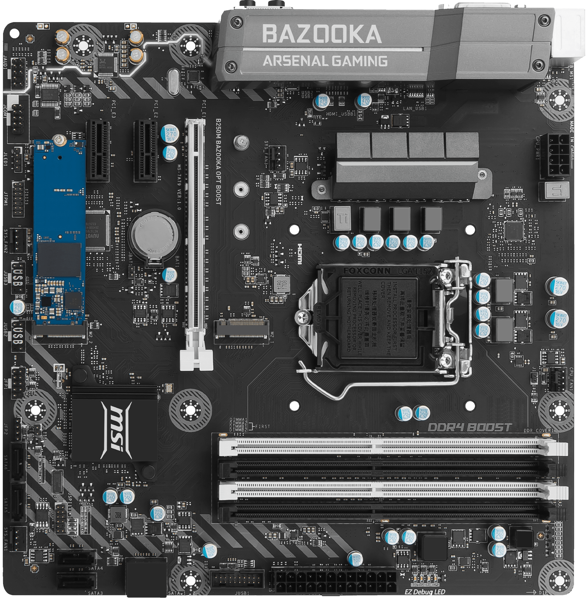MSI B250M Bazooka OPT Boost Motherboards