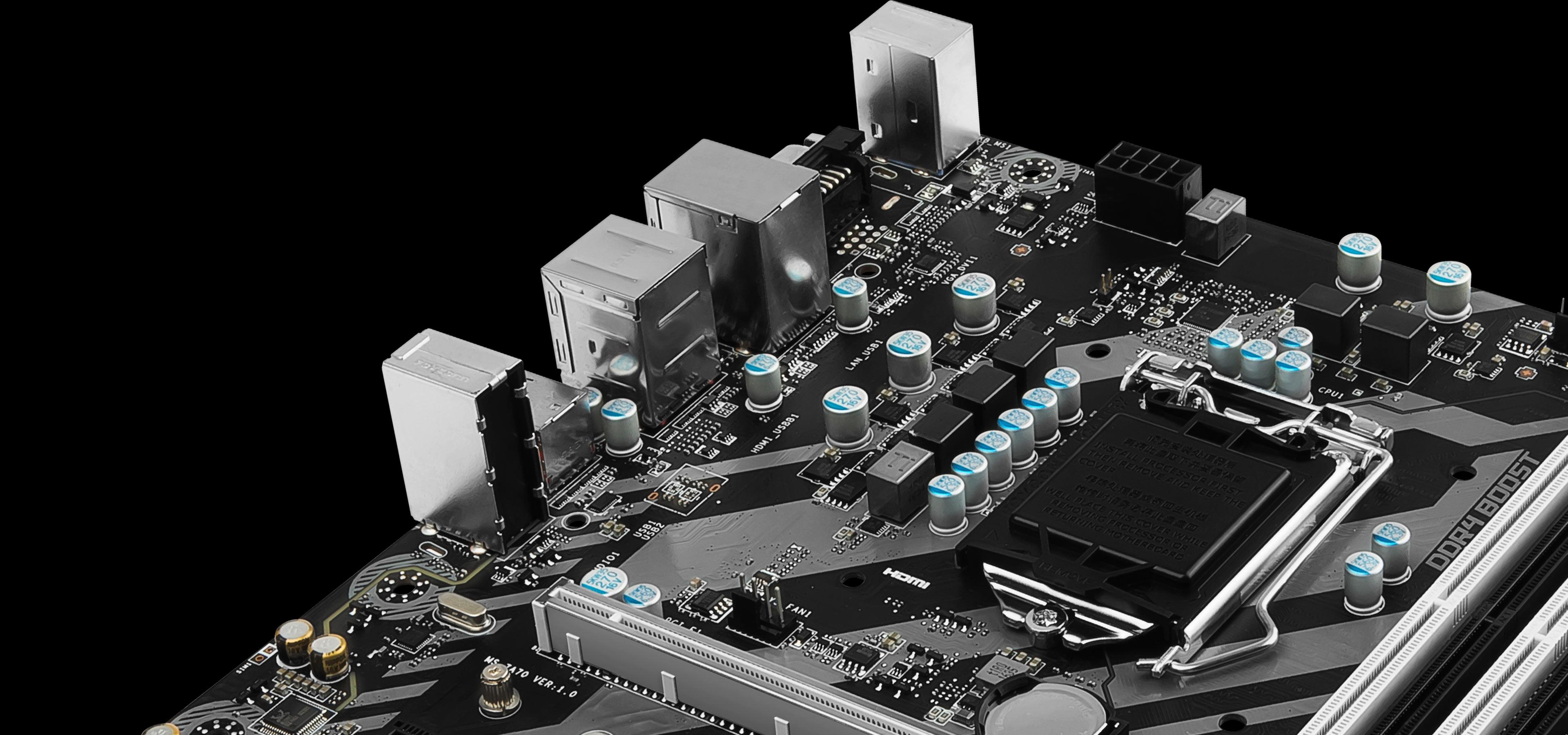 MSI H270M BAZOOKA VR Ready M-ATX Motherboard - Black (Intel Core i3/i5/i7 Processor, LGA 1151, Dual Channel DDR4, USB 3.1, PCI-E 3.0, PCI-E x1, Sata 6 GB)