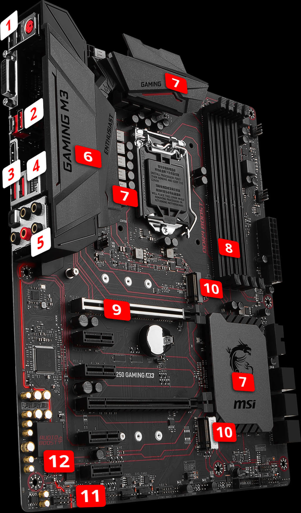 b250 gaming m3 motherboard the world leader in motherboard design msi global. Black Bedroom Furniture Sets. Home Design Ideas