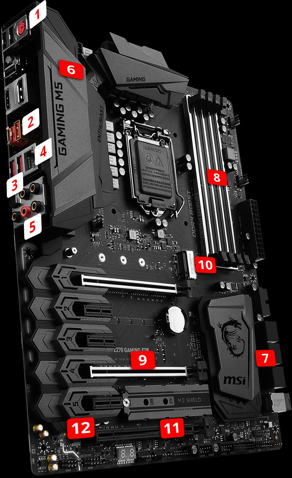 MSI Z270 Gaming M5 LGA1151 ATX Motherboard
