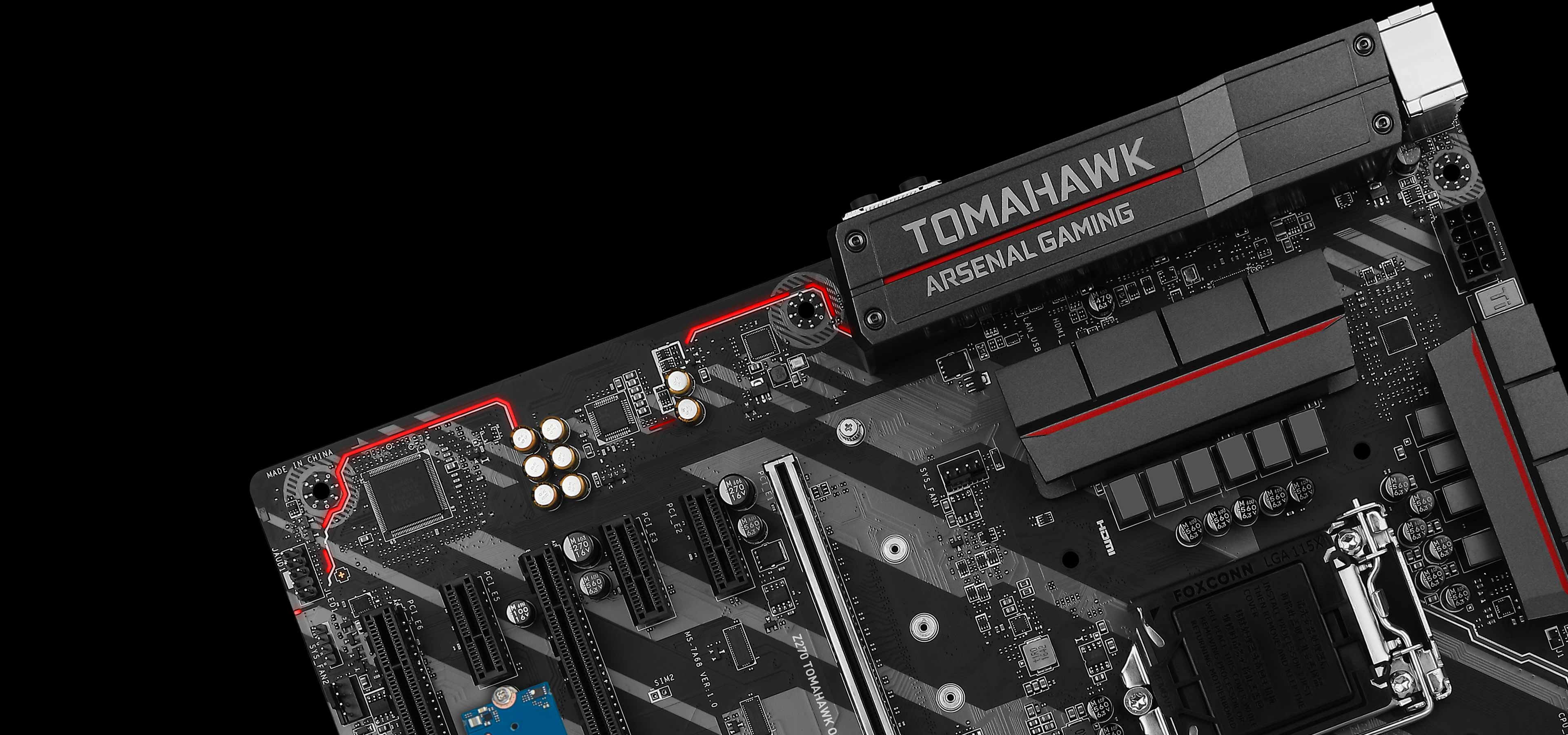 MSI Z270 TOMAHAWK OPT BOOST Gaming Intel Z270 DDR4 HDMI USB 3 CrossFire ATX Motherboard