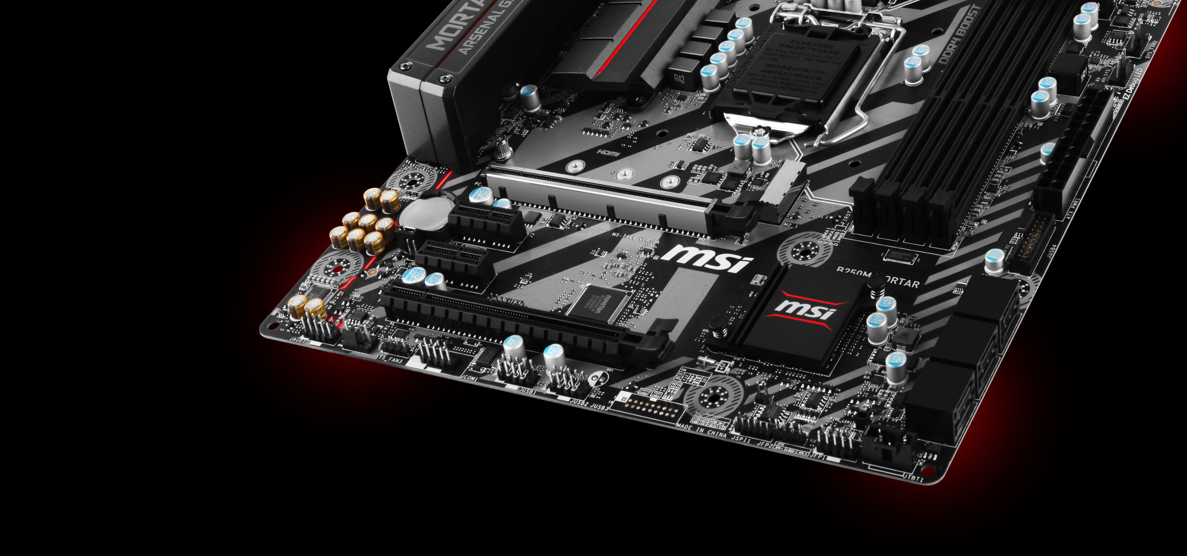 MSI B250M MORTAR VR Ready M-ATX Motherboard