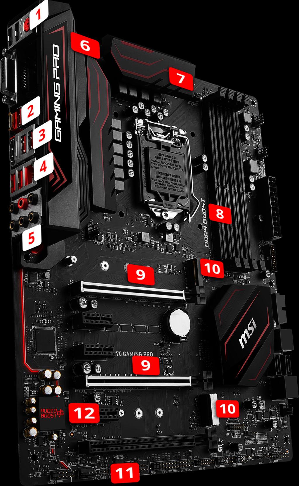 MSI Z270 Gaming Pro LGA1151 ATX Motherboard