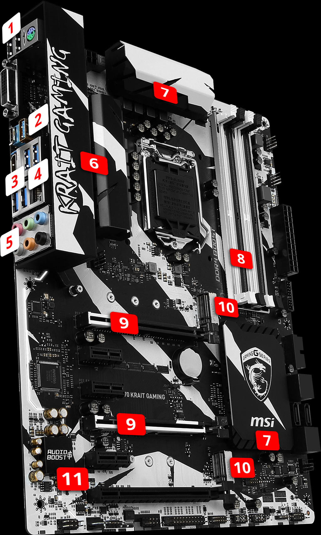 MSI Z270 KRAIT GAMING LGA1151 ATX Motherboard