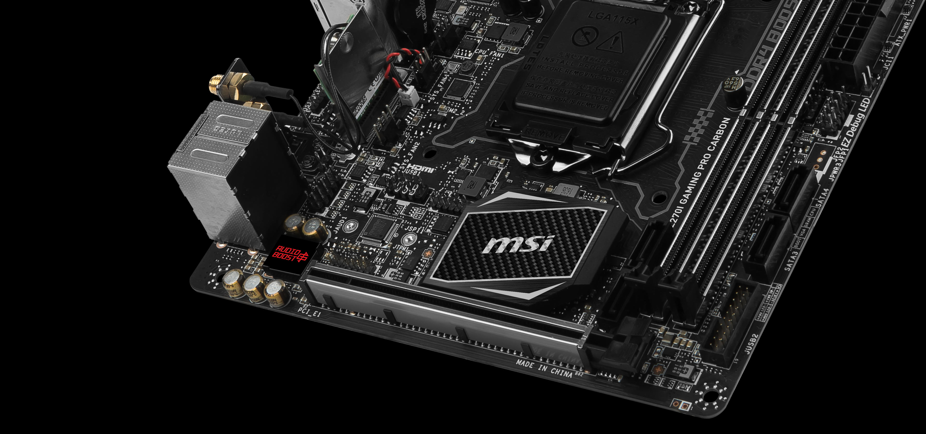 MSI Z270I Gaming Pro Carbon AC LGA1151 Mini-ITX Motherboard