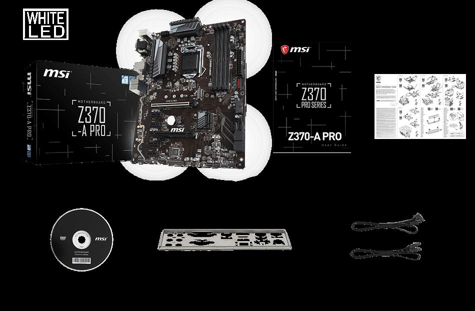 MSI Z370-A PRO box content