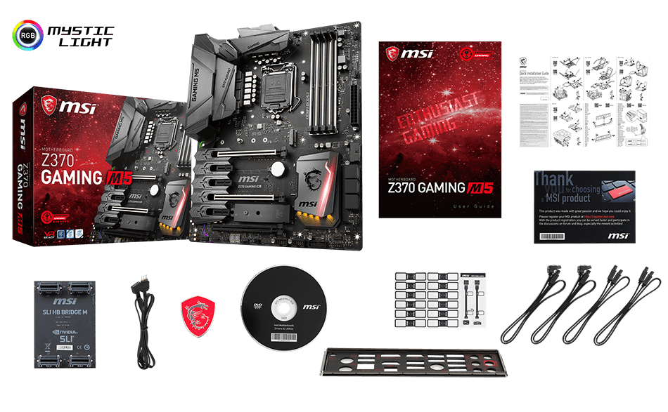 MSI Z370 GAMING M5 box content