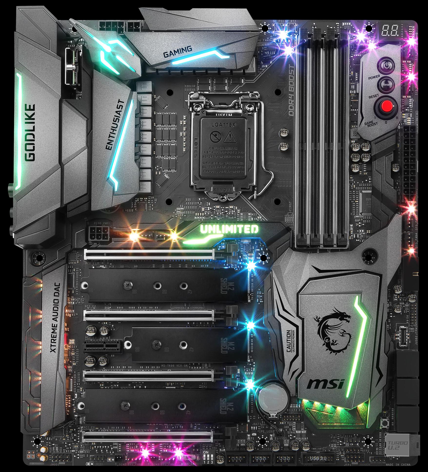 Msi Z370 Godlike Gaming Lga 1151 300 Series Intel Z370