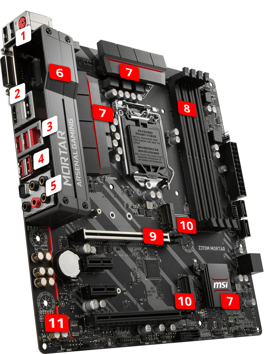 MSI Z370M MORTAR overview