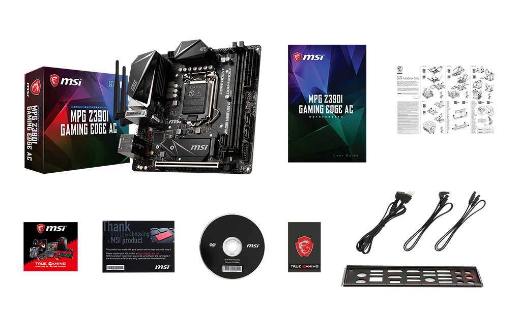 MSI Z390i GAMING edge_ac box content