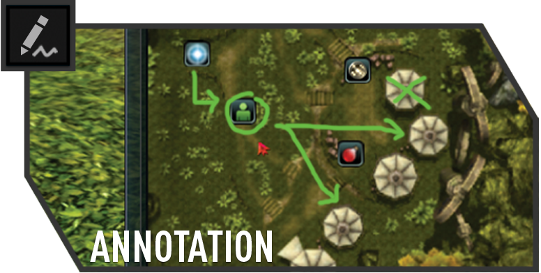 Draw attention whilst casting with in-game annotations
