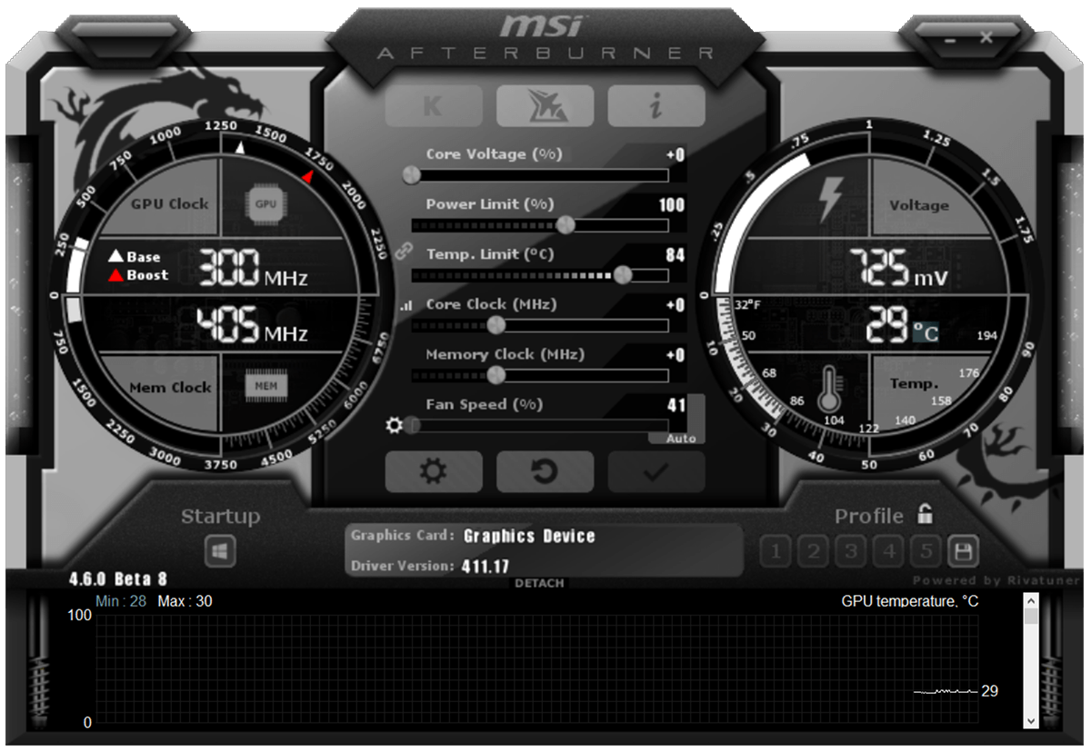 Afterburner UI
