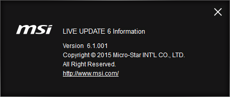 Live Update 6 Instruction | MSI Global